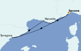 Itinerario de crucero Mediterráneo 4 días a bordo del Costa Favolosa