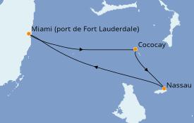 Itinerario de crucero Bahamas 4 días a bordo del Independence of the Seas