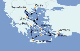 Itinerario de crucero Grecia y Adriático 11 días a bordo del Azamara Journey