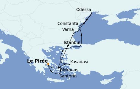 Itinerario del crucero Grecia y Adriático 9 días a bordo del Norwegian Jade