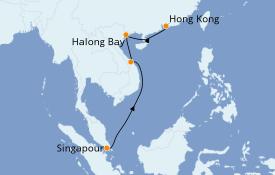 Itinerario de crucero Asia 8 días a bordo del Queen Elizabeth