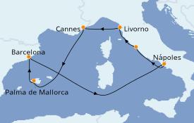 Itinerario de crucero Mediterráneo 8 días a bordo del Norwegian Epic