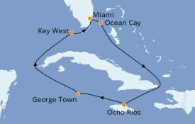 Itinerario de crucero Caribe del Oeste 8 días a bordo del MSC Armonia