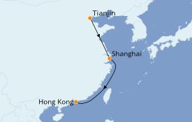 Itinerario de crucero Asia 8 días a bordo del Silver Muse