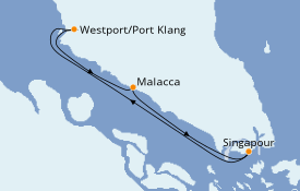 Itinerario de crucero Asia 4 días a bordo del Quantum of the Seas