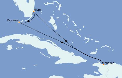 Itinerario del crucero Caribe del Este 5 días a bordo del Grandeur of the Seas