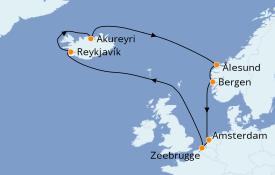 Itinerario de crucero Mar Báltico 12 días a bordo del Celebrity Reflection