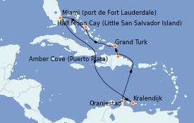 Itinerario de crucero Caribe del Este 11 días a bordo del ms Nieuw Statendam