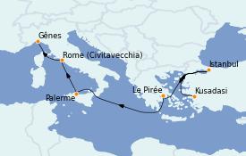 Itinerario de crucero Grecia y Adriático 9 días a bordo del MSC Poesia