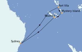Itinerario de crucero Australia 2022 11 días a bordo del Ovation of the Seas