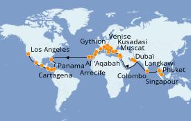 Itinerario de crucero Mediterráneo 67 días a bordo del Island Princess