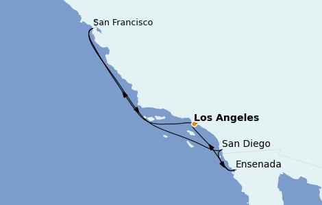 Itinerario del crucero California 7 días a bordo del Grand Princess