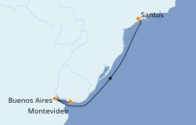 Itinerario de crucero Suramérica 5 días a bordo del Costa Luminosa