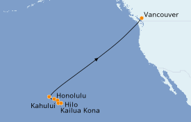 Itinerario de crucero Hawaii 12 días a bordo del Norwegian Jewel