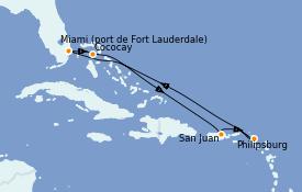 Itinerario de crucero Caribe del Este 8 días a bordo del Odyssey of the Seas