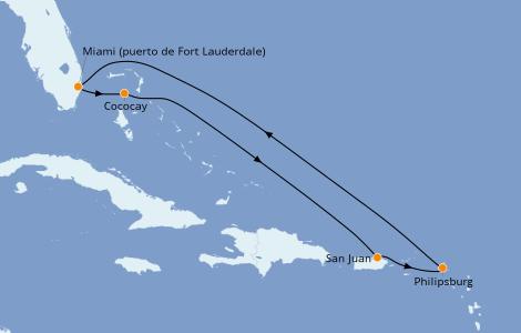 Itinerario del crucero Caribe del Este 7 días a bordo del Odyssey of the Seas