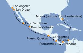 Itinerario de crucero Riviera Mexicana 17 días a bordo del Celebrity Millenium