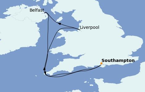 Itinerario del crucero Islas Británicas 5 días a bordo del Anthem of the Seas