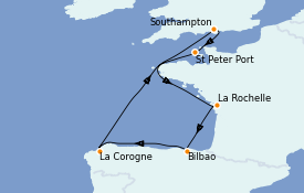 Itinerario de crucero Islas Británicas 8 días a bordo del Sky Princess