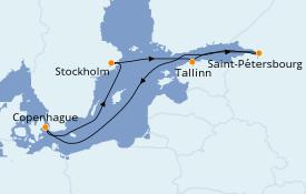 Itinerario de crucero Mar Báltico 8 días a bordo del Adventure of the Seas
