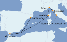 Itinerario de crucero Mediterráneo 8 días a bordo del Discovery Princess