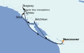 Itinerario de crucero Alaska 9 días a bordo del Sapphire Princess