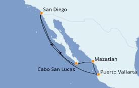 Itinerario de crucero Trasatlántico y Grande Viaje 2021 8 días a bordo del Norwegian Jewel