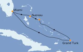 Itinerario de crucero Bahamas 6 días a bordo del Carnival Sensation