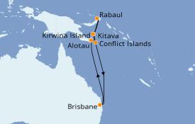 Itinerario de crucero Australia 2021 11 días a bordo del Sun Princess