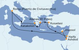 Itinerario de crucero Grecia y Adriático 13 días a bordo del Celebrity Reflection