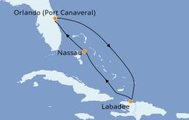 Itinerario de crucero Bahamas 6 días a bordo del Mariner of the Seas