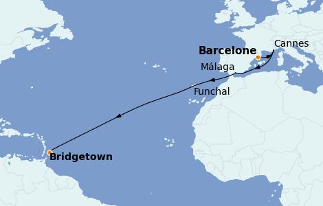 Itinerario del crucero Mediterráneo 12 días a bordo del Rhapsody of the Seas