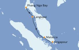 Itinerario de crucero Asia 8 días a bordo del Star Clipper