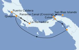 Itinerario de crucero Riviera Mexicana 8 días a bordo del Le Dumont d'Urville