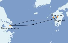 Itinerario de crucero Asia 6 días a bordo del Spectrum of the Seas