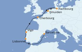 Itinerario de crucero Mediterráneo 9 días a bordo del Costa Fortuna