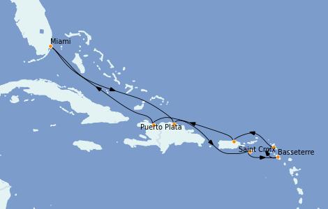 Itinerario del crucero Caribe del Este 9 días a bordo del Grandeur of the Seas