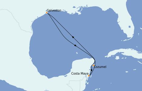 Itinerario del crucero Caribe del Oeste 5 días a bordo del Allure of the Seas