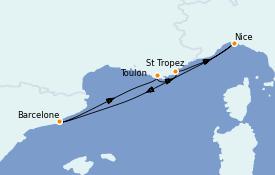 Itinerario de crucero Mediterráneo 6 días a bordo del Azamara Pursuit