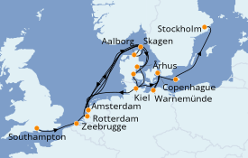 Itinerario de crucero Mar Báltico 11 días a bordo del Azamara Quest
