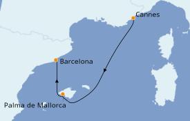 Itinerario de crucero Mediterráneo 3 días a bordo del MSC Seaview