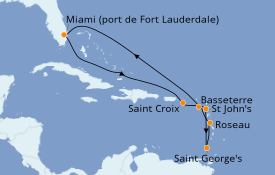 Itinerario de crucero Caribe del Este 11 días a bordo del Celebrity Reflection