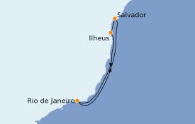 Itinerario de crucero Suramérica 6 días a bordo del MSC Fantasia