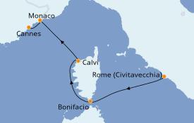 Itinerario de crucero Mediterráneo 5 días a bordo del Royal Clipper
