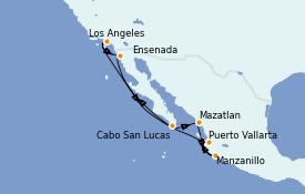 Itinerario de crucero Riviera Mexicana 10 días a bordo del Seven Seas Mariner