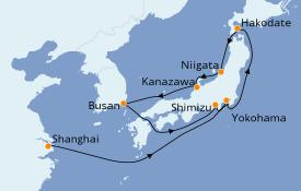 Itinerario de crucero Asia 12 días a bordo del MSC Bellissima