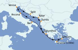 Itinerario de crucero Grecia y Adriático 11 días a bordo del MS Nautica