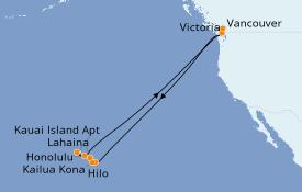 Itinerario de crucero Hawaii 19 días a bordo del ms Koningsdam