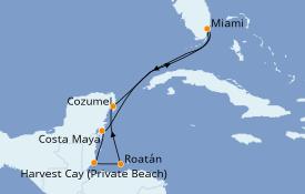 Itinerario de crucero Caribe del Oeste 8 días a bordo del Norwegian Joy