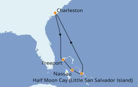 Itinerario de crucero Bahamas 7 días a bordo del Carnival Sunshine